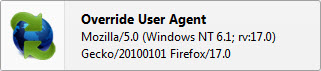 Default user agent for Firefox