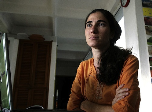 Yoani Sánchez is a Cuban blogger who has achieved international fame and multiple international awards for her critical portrayal of life in Cuba under its current government.