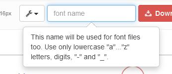 change font name fontello