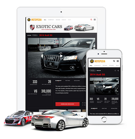 Motopedia.ae is fully responsive so give it a spin on your tablet and mobile