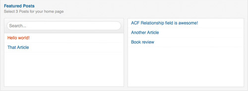 The perfect UI for a relationship-type field.