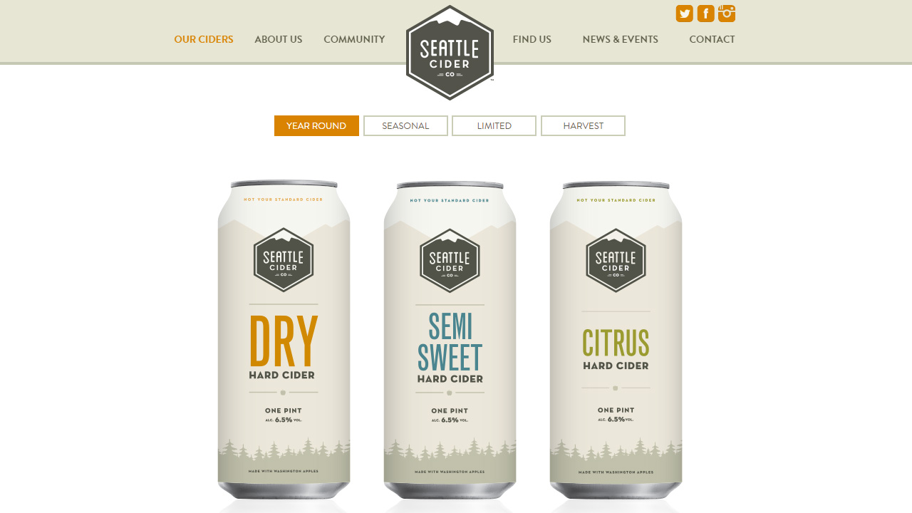 Seattle Cider Homepage