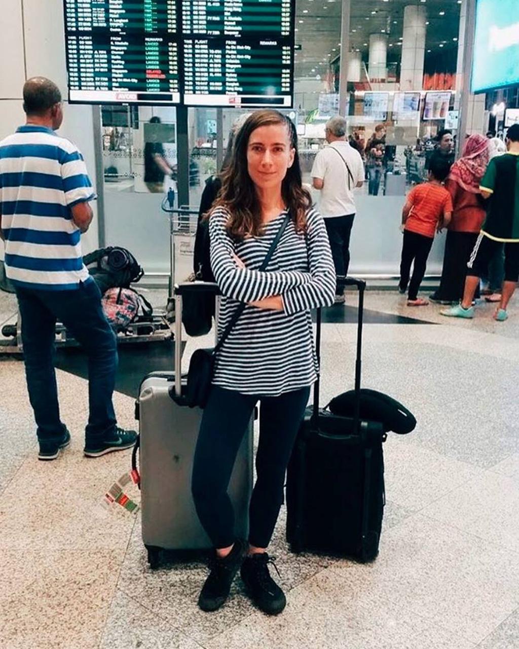 Viki at the airport