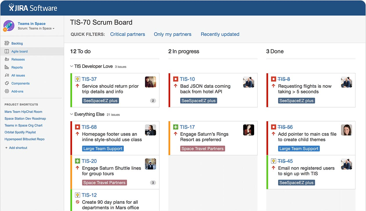 JIRA Interface