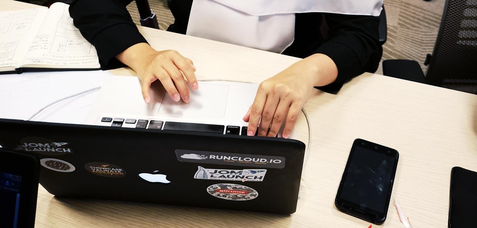 Macbook with stikcers